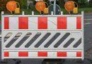 Une barrière de chantier